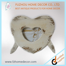 Heart shape bed photo frame with or without mat