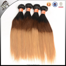 perfect virgin human 3 tone color ombre hair, 1b 27 ombre color hair