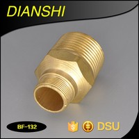 Brass nipple fitting reducing hydraulic hose and fittings hose crimping fittings