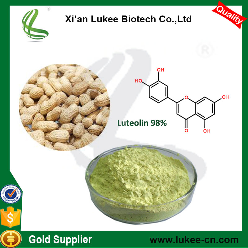 Best price Peanut Husk Extract/Groundnut Shell Extract Luteolin 98%