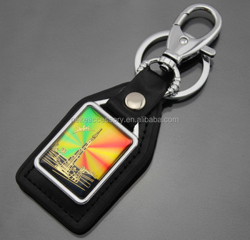 Cheapest And Hot Sell Leather Keychain With Debossed logo