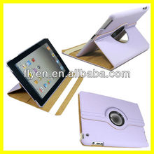 Tablet Accessories for 9.7 inch Leather Case for iPad 3 360 Rotating Magnetic Smart Cover 2013 Hot Selling