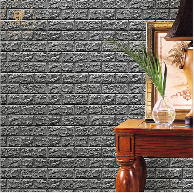 House Decor Removable XPE Foam 3D Texture Brick Self-Adhesive Wall panels