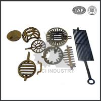 Custom fcd450 ductile cast iron casting parts/cast iron wood stove parts