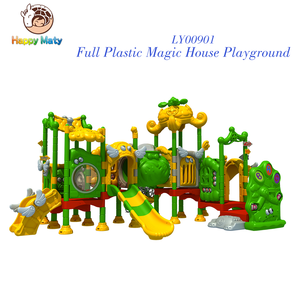 Amusement park games toys amusement park sale in garden items kids play area for LLDPE LE plastic slide