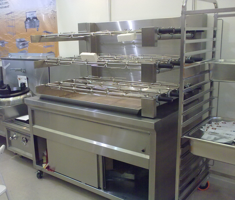 Commercial kitchen large charcoal chicken grill machine