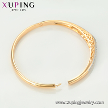 51878 Xuping Ancient style Indian gold multi color gold Royal bangle jewelry for women