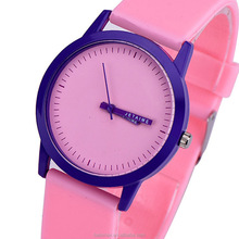2017 New Sweet Color Design Clock Cleaning Silicone Wrap Soft Candy Jelly Candy with One Seconds Letter Quartz Lady Wrist Watch