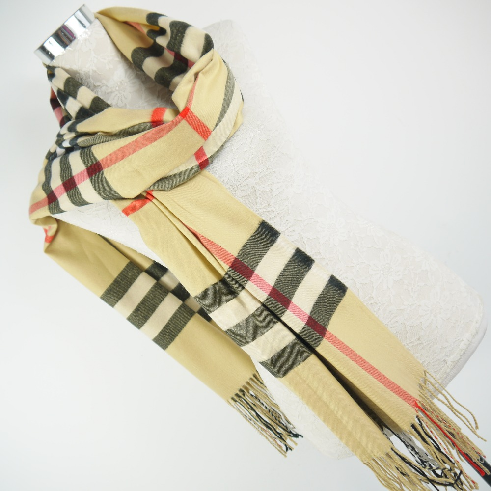 Quality famous designer cheap fake cashmere fashion women plaid scarf for spring autumn winter