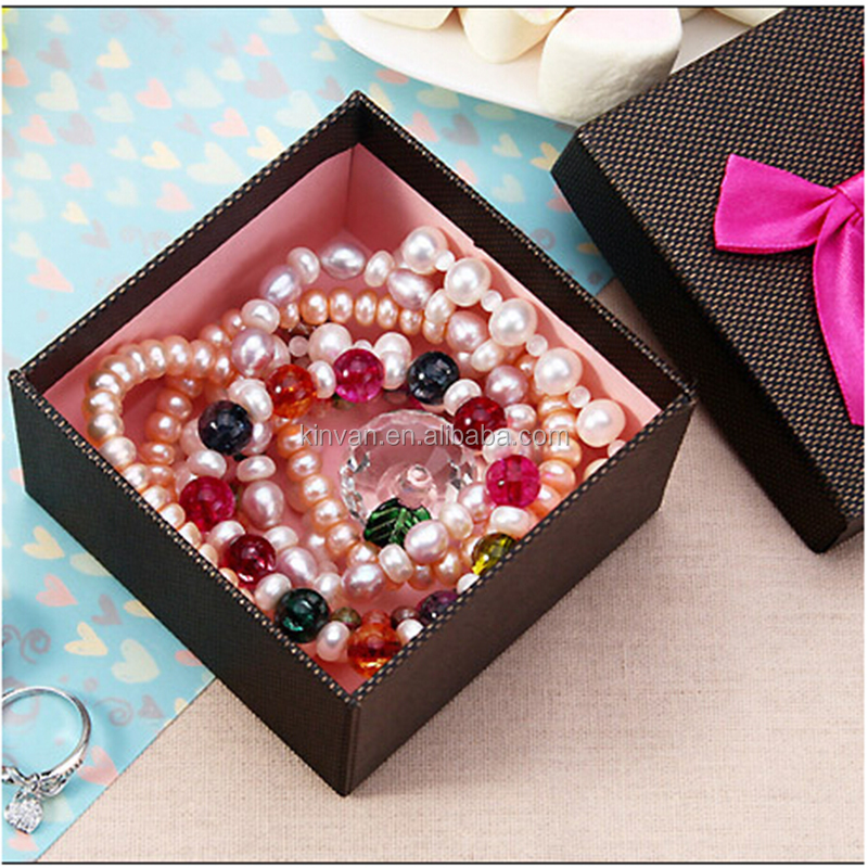 Luxury Jewelry Storage Boxes Factory Christmas Ornaments Square Box with Lids