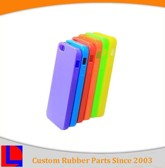 custom colorful silicone rubber phone case