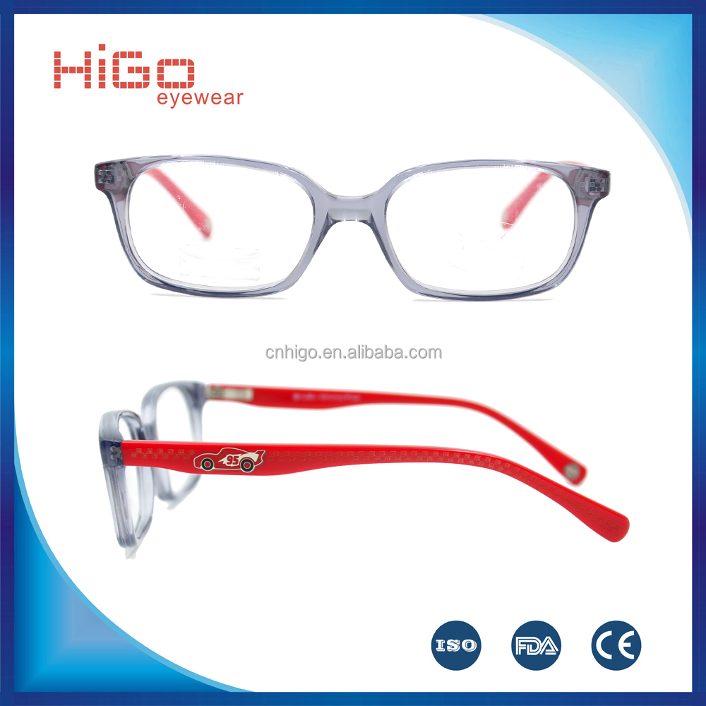 Fashion design cheap acetate kids eyeglasses frame manufacture in China