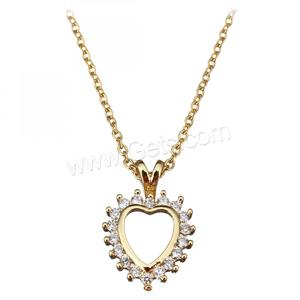 cheap wholesale new design gold plated women heart shape stainless steel pendant necklace 1322479