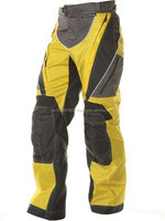 Advanced Black and Yellow Green Textile Waterproof Fabric Motorcycle Pants , Motorbike Cordura Trousers
