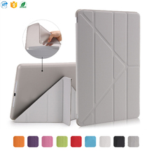 2017 New Smart cover for ipad case, Good Hand Feel Folding Stand Smart Magnetic Leather case for New ipad 9.7''inch