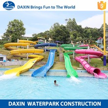 Daxin Fiberglass Water Slides Prices Slide Tubes For Sale