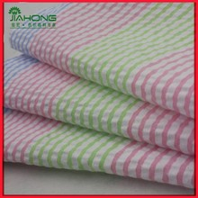 High quality yarn dyed seersucker, striped polyester cotton children fabric