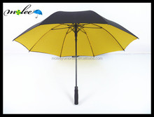 China Umbrella Manufacturer Double Layer Air Vented Custom Design Premium Windproof Golf Umbrella with Pouch for Shoulder