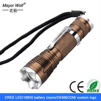 18650 battery rechargeable aluminum telescopic zoom mini led flashlight with pocket clip