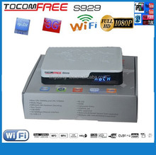 satellite receiver hd/digital tv satelite receiver iptv/youtube support tocomfree s929 receptor