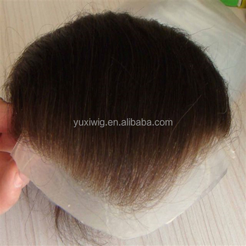 natural hairline hand tied cheap toupee for men