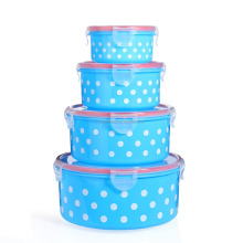 Kitchenware set 4pcs Food Box Plastic Lunch Box keep Food Warm Storage