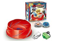 Beyblade metal fusion spinning top set with 2 gyro+1 ripcord launcher+1 string launcher+1 arena