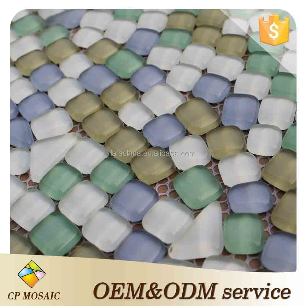 Factory Price Swimming Pool Decoration Glass Pebble Mosaic Tile