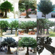 Guangzhou factory make huge big large decorative fake outdoor high imitated artificial banyan ficus tree for decoration