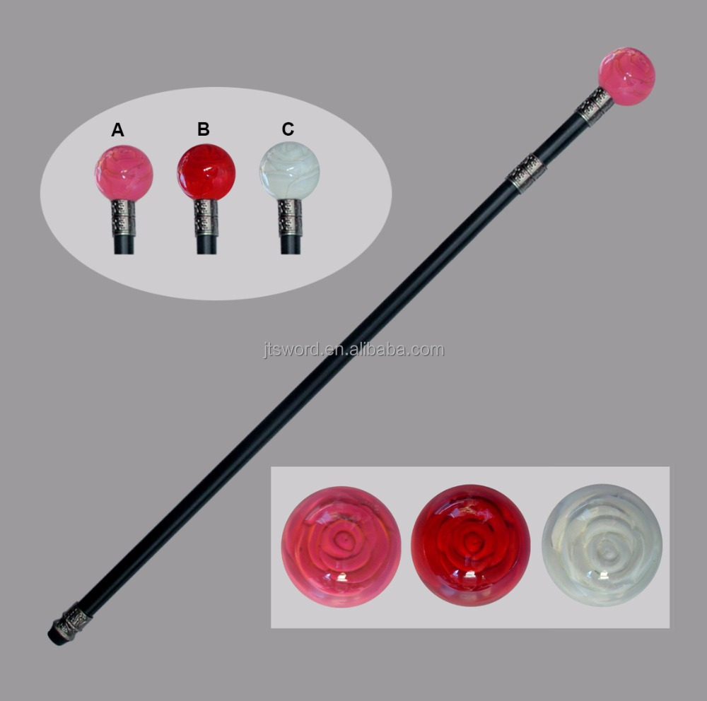 high quality crystal rose walking sticks for wholesale