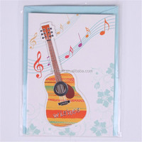 guitar/music style card, greeting card, handmade craft