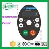 Smart bes Remote Control Switch Panel of PET/PC/PVC Material Metal Dome Keyboard Membrane Switch