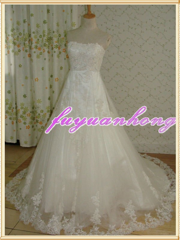 Real lace bridal gown /RD9043