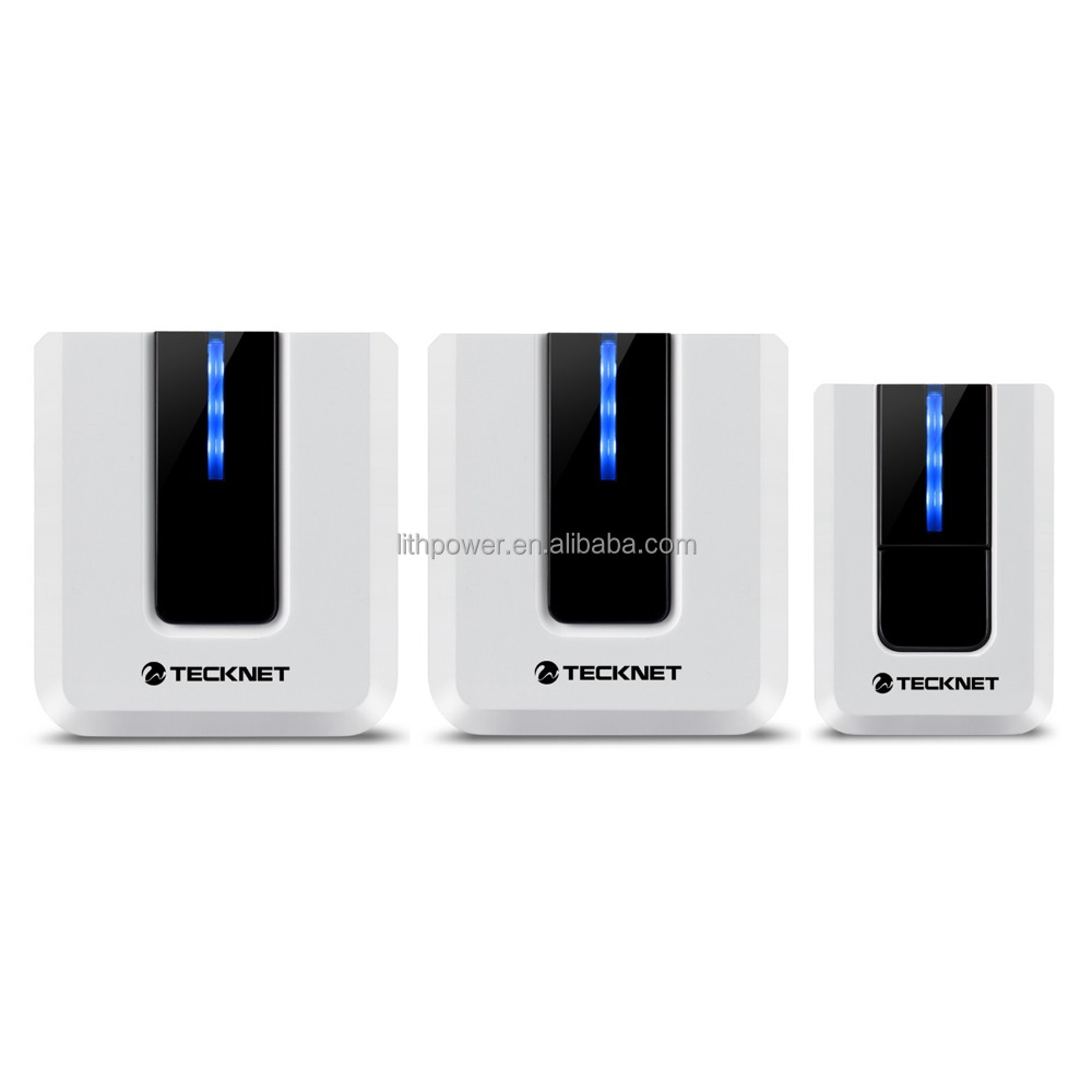TeckNet Twin Mains Plug-in Wireless Cordless Doorbell Door Chime at 500-feet Range with 52 Chimes