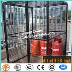 high quality galvanized Gas Bottle Storage wire mesh cage