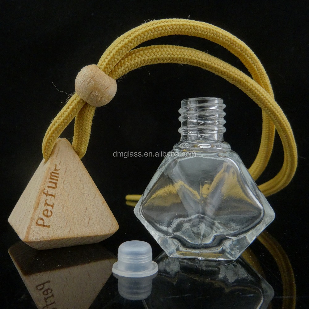 Hanging Car Perfume Diffuser Auto Air Freshener Glass Bottle for Car 8ml