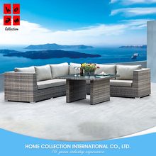 Outdoor furniture garden ratan sofa set luxury modern style