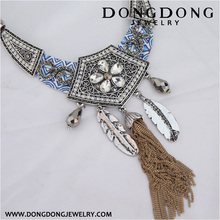 Dongdong 2017 new India popular wind hollow alloy pendant short chain necklace
