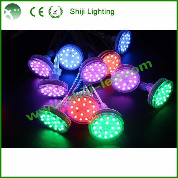 38mm led amusements rides decoration program pixel poi led