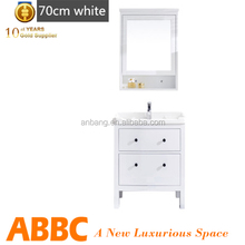 Wall mounting white bathroom floating cabinets new design UN-6008