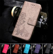 Flower Pattern Wallet Card Holer Stand PU Leather Flip Phone Case For Samsung
