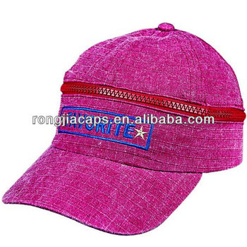 Embroidery Canvas with Zip Promotional Golf Caps