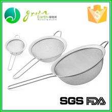 Multifunctional FDA CIQ Iron stainless steel colander with long handle