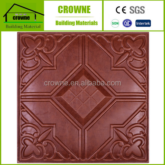 Top quality hot-sale faux leather 3d wall panel upholstered wall panels 40x40cm frp water proof sound insulation