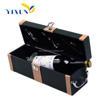 Best Selling Promotion PU Leather Wine Box, Popular Item for Wedding Wine Carrier Tote Wholesale
