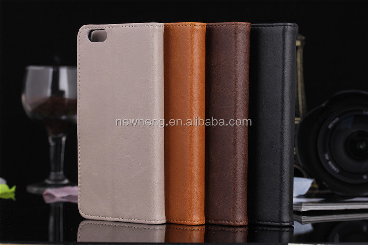 New design Vintage leather case for iPhone 6 book cover