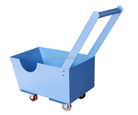 Good quality sheet metal utility cart with wheel