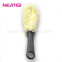 2017 Long Plastic Flexible Wand Foam Sponge/ Wine Bottle Glass Decanter Washing Clean Brush