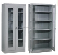 Luoyang factory glass door laboratory cabinet/Office cabinet sliding door mechanism