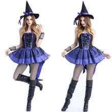 2017 New Arrival Hot Selling Sex Witch Cosplay Halloween Costume